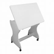 Adjustable Melamine Clad Wood Drawing / Craft Table