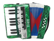Kids Piano Accordion 17 Keys 8 Bass Green