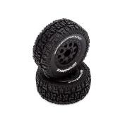 FR/R Tyre, Prmnt, Blk Whl (2):1:10 2wd/4wd Torment