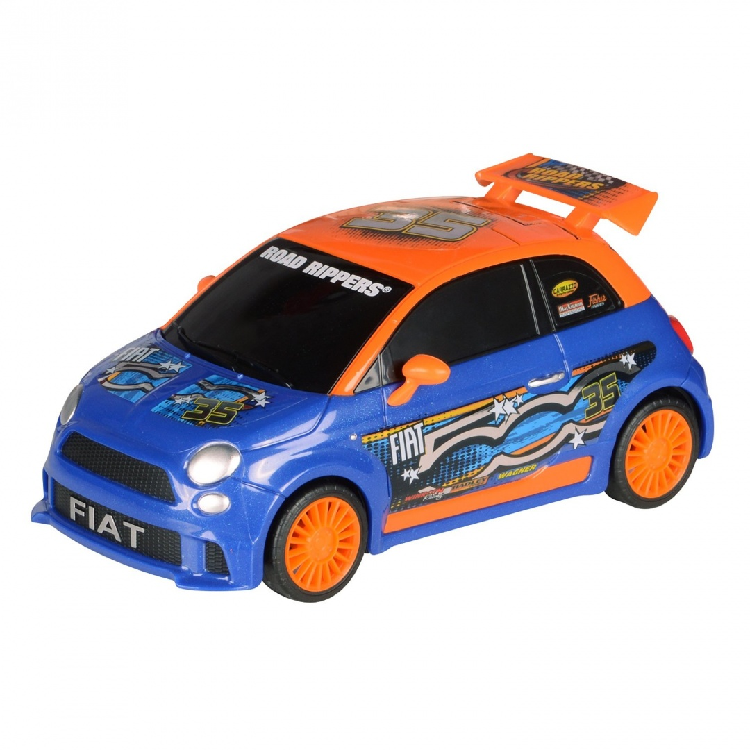 Toystate Road Rippers Light And Sound Hatchbacks Fiat 500 Toy Car By