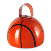Club Pack of 12 Basketball Design Country Farm-Style Cowbell Party Favour Decorations 8.3cm