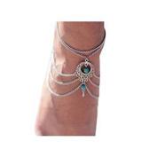 Fulltime(TM) Womens Beach Barefoot Sandal Foot Turquoise Jewellery Tassel Anklet Chain