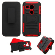 Insten Car Armour Hard PC/ Silicone Dual Layer Hybrid Case Cover with Holster For LG Google Nexus 5
