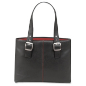 SOLO Classic 41cm Laptop Tote w/Red Interior Lining
