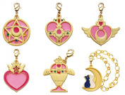 Gashapon Sailor Moon Stained Charm 6 items Full Set