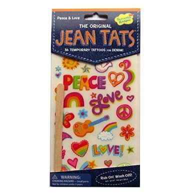 The Original Jean Tattoos - Peace and Love - by Peaceable Kingdom