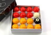 44mm Medium Size ECONOMY RED & YELLOW POOL Ball Set - 1 3/4Inch