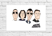 Arctic Monkeys - Cartoon Art Poster - Unframed Print