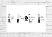 5 Seconds Of Summer 5SOS - Group Black & White - Art Poster - Unframed Print
