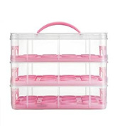 Silicone Bakeware Cupcake Carrier, Plastic, Pink