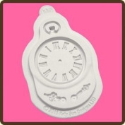 Design Mat Fondant Cake Icing Embellishment Topper Mould - Clock Mould