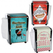 RETRO STYLE 100 NAPKIN DISPENSER SERVIETTE KITCHEN BAR RESTRUANT PARTY NEW HOME