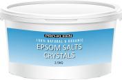 Pro-Kleen Epsom Bath Salts Crystals 2.5 KG Natural Mineral Magnesium Sulphate