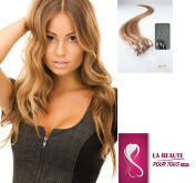 100 Natural Hair Extensions Cold-Fusion Easy-Loop Chestnut Brown #27