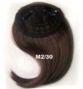#2_30 Synthetic Hair Clip In/On Side Hair Fringe/Bangs