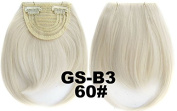 #60 100% High Temperature Synthetic Fibre Clip In/On Front Hair Fringe Hair Bangs