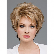 Hotwind women's short curly Blonde Hair Wigs As Real Hair wig