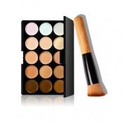 Malloom Fashion 15 Colours Makeup Concealer Contour Palette + Makeup Brush