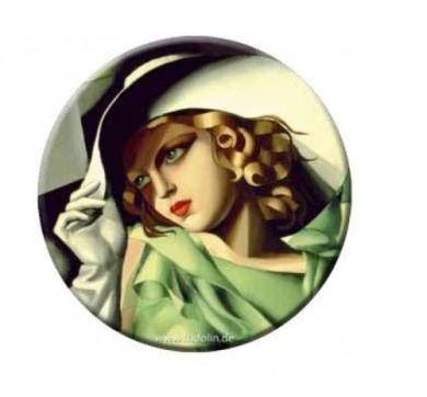 Pocket mirror, Lempicka: Young Lady With Gloves