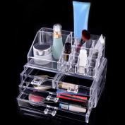 EZI Clear Acrylic Cosmetic Jewellery Makeup Organiser Box Case Storage Drawer