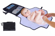 Nappy Changing Travel Kit By Lebogner - Deluxe Baby Changing Pad With Neoprene Fabric For A Softer Feel And Pockets For Nappy Changing Accessories, Perfect Portable Infant Changing Station.