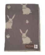 knee rug/wool blanket throw - Rabbit - Grey