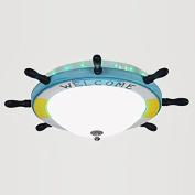 Cartoon 30w LED Wooden Rudder Ceiling Light Lamps Children's Room Ceiling Lights Bedroom Ceiling Lamp Fixtures