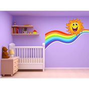Children's Stickers Self-Adhesive Stickers Children's Room Sun Rainbow 17560 - 20 cm Wide