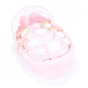 Isabella Alicia Double Frilled Traditional Bubble Quilt Maize Moses Basket