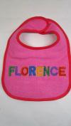 """""""Florence"""" named baby bib"""
