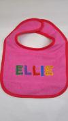 """Ellie"" named baby bib"