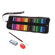 Niutop 48 colours Artist Grade High Quality Watercolour Pencils Set with Pencil Holder Sharpener Eraser and Blending Brush