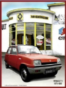 FRENCH VINTAGE METAL SIGN 20x15cm RETRO AD RENAULT 5 GARAGE MICHELIN ELF
