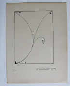 """Aubrey Beardsley - Antique Print - Cover Design. From """"Verses,"""" by Ernest Dowson"""