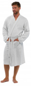 Mens 100% Cotton Waffle Robe / Dressing Gown