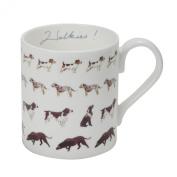 Sophie Allport Fine Bone China Boxed Mug (275ml) - Walkies!