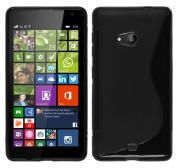 NWNK13 . Slim Design Soft Gel Back Case Cover With Mini Card Wallet & Screen Film For Microsoft Lumia 550