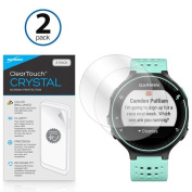 Garmin Forerunner 235 Screen Protector, BoxWave® [ClearTouch Crystal (2-Pack)] HD Film Skin - Shields From Scratches for Garmin Forerunner 235