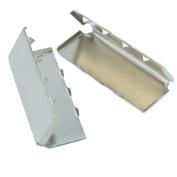 """Bluemoona 100 Pcs - 1"""" 25mm Belt Buckle End Tip For Webbing Tag Bag Polypropylene"""
