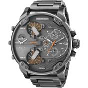 Diesel Men's Mr Daddy Dual Zone Chronograph Grey Dial Grey Stainless Steel Watch DZ7315