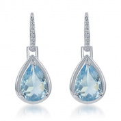 La Preciosa Sterling Silver Gemstone Teardrop Earrings