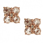 Anika and August 14k Rose Gold Morganite Diamond Accent Earrings