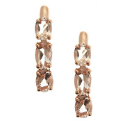 Anika and August 14k Rose Gold Morganite Earrings