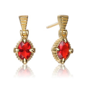 Collette Z Gold Overlay Red Cubic Zirconia