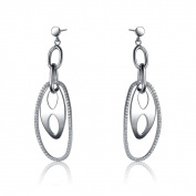 Collette Z Sterling Silver Multi Oval Earrings