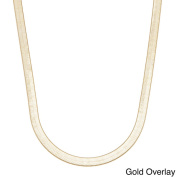 Simon Frank 14k Overlay Herringbone Necklace