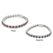 De Buman Sterling Silver Natural Gemstone Bracelet
