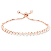 Finesque Gold Over Sterling Silver or Sterling Silver Diamond Accent Adjustable Bracelet
