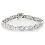 Luxurman Women's 10k Gold Infinity Baguette Diamond 2 4/5ct TDW Bracelet