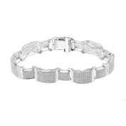 Luxurman 10k White Gold 4 3/5ct TDW Men's Diamond Bracelet